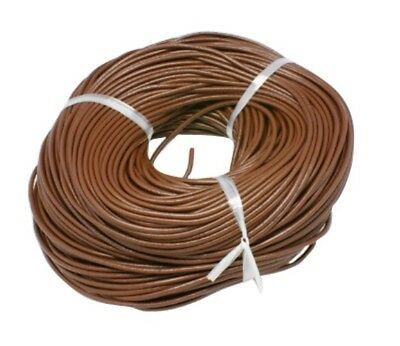 3mm Saddle Brown AUTHENTIC 100% LEATHER Cord 1M 2M 3M Thong Lace Round