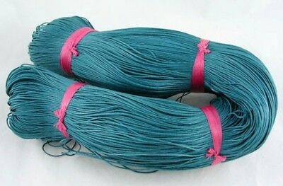 TEAL GREEN WAXED COTTON CORD 10 metres x 1mm Shamballa Macrame Jewellery Making