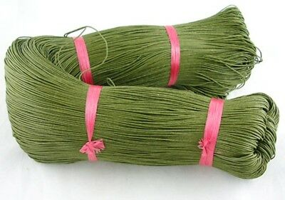 OLIVE GREEN WAXED COTTON CORD 10m x 1mm Shamballa Macrame Jewellery Making
