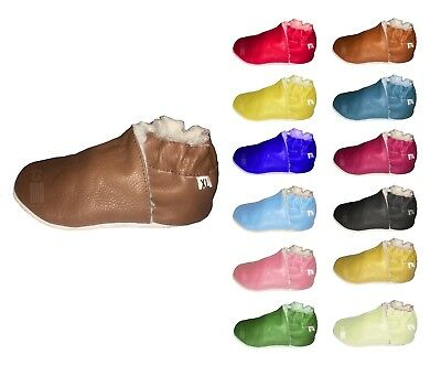 Boys Soft Leather Baby and Toddler Shoes Non-slip Suede Soles Dotty Fish style