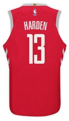 Nuova Canotta/jersey Da Collezione-Basket Nba-Houston Rockets-James-Harden-Rossa