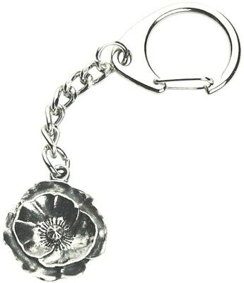 Poppy Keyring Souvenir Gift Key Chain Ring Rememberence WW1 100 Year Anniversary