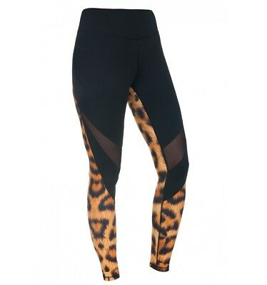 Leggings feelj hot mit netz sporthose Fitnesshose Damen Hose