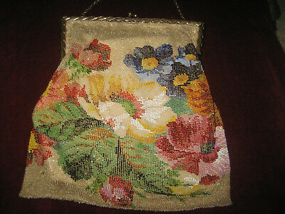 Antique Victorian Glass Beaded Purse