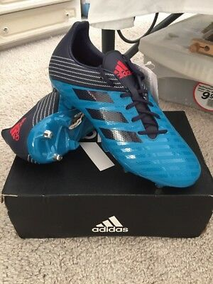 Mens Adidas Malice SG Rugby Boots Mens Blue UK 12 New RRP £60