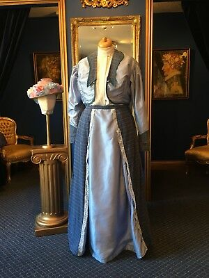 Beautiful Theatrical Edwardian Style Ladies Day Suit With Hat, Tip Item!!