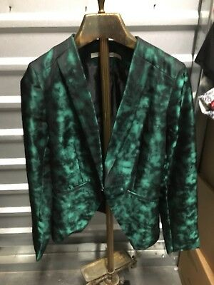 Unmarked Sz S/m Gibson Green Shiny Lounge Jacket. Jazzy!