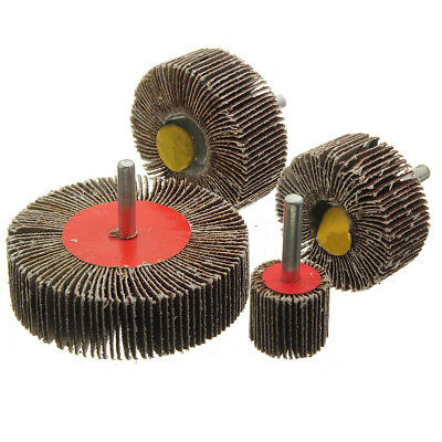 25mm - 80mm Sanding Flap Grind Wheels Disc Shaft Mounted Abrasive Drill 40 Grit