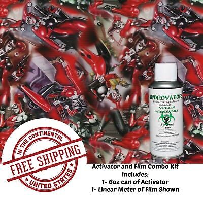 Hydro Dipping Water Transfer Hydrographic Film 6Oz. Activator Harley Quinn Kit