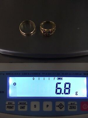 10k Gold Rings Lot 6.8 Grams Wear/scrap Tested/stamped/solid