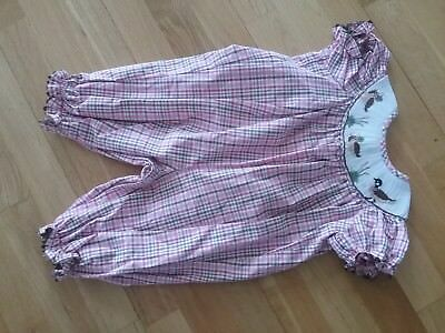 New Stellybelly Romper Smocked 'Duck Duck Goose'  sz 6M Boutique
