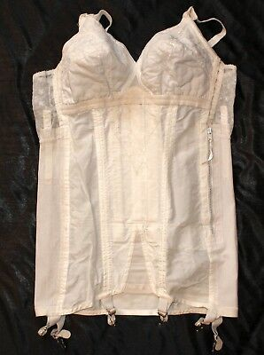 Vintage Open Bottom Girdle Corselette All In One no tag