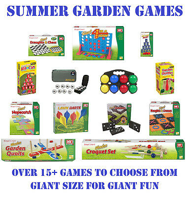 GIANT GARDEN GAMES Outdoor Indoor Kids Adult BBQ Party Fun Summer Lawn Beach