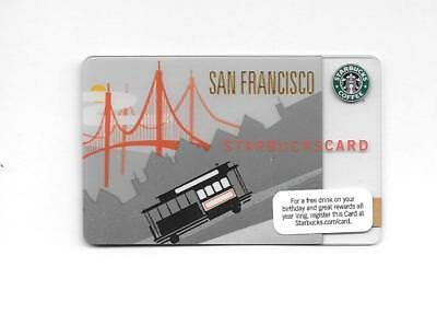 Rarer Starbucks Card SAN FRANCISCO 1st Issue Cable Car 2009 Issue NEW UNUSED