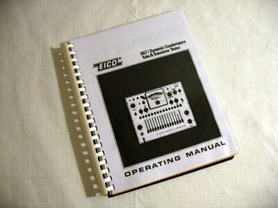 Manual: EICO 667 Tube Tester + Charts & Updates, Choose Roll or No Roll Style