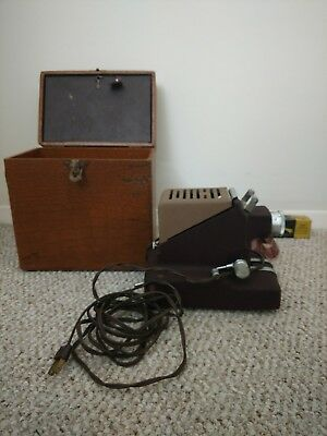 Vintage  Model 333 Standard Film Strip Projector in Hard Box