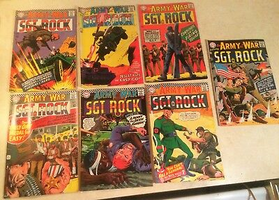 OUR ARMY AT WAR 1967 Lot of 7 DC Comics No. 178 179 180 181 182 184 185 SGT Rock
