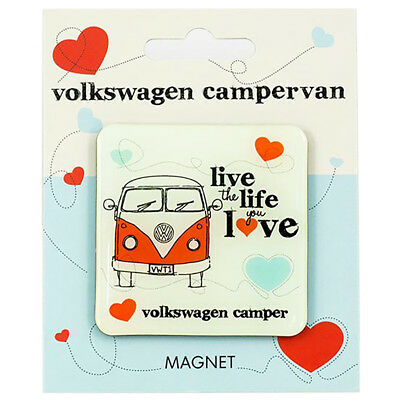 VW Live The Life You Love Epoxy Fridge Magnet Officially Licensed By Volkswagen
