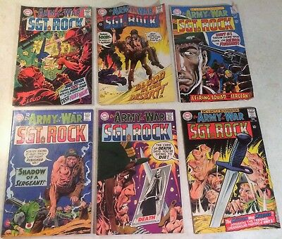 OUR ARMY AT WAR 1967-68 Lot of 6 DC Comics No. 187 188 189 191 192 193 SGT Rock