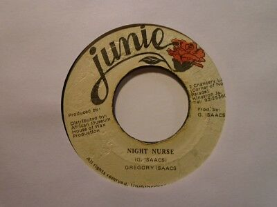 "GREGORY ISAACS Night Nurse JUNIE Roots Reggae 7"" HEAR"