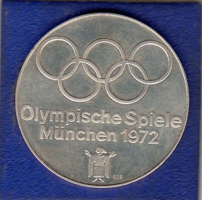 Medaille Olympiade München 1972 Silber