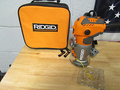 RIDGID 5.5 Amp Corded Compact Router R2401 #918