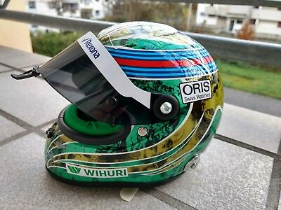Felipe Massa Williams FW38 GP Brasilien Formel 1 2016 Almost final race Helm 1:2