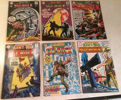OUR ARMY AT WAR 1968-69 Lot of 6 DC Comics No. 195 196 197 198 199 210 SGT Rock