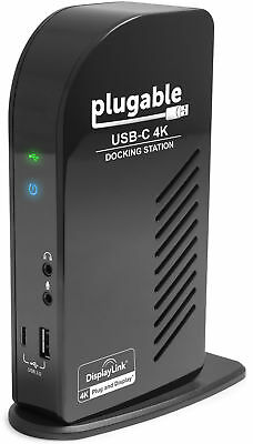 Plugable 4K Triple Monitor Docking Station with PD - USB-C to HDMI and DP