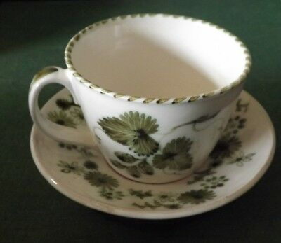 Vintage,Rye Pottery Large Cup & Saucer Cup 3 1/2 inch tall Hand Painted
