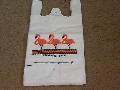 100 pcs White T-Shirt Shopping Bags Small With Handles Retail Grocery 7 x 5 x 15