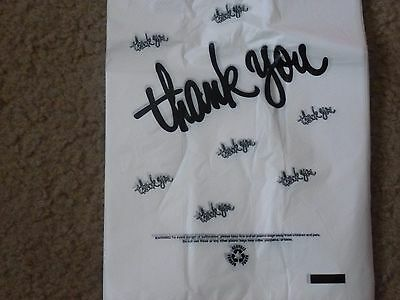 T - Shirt White Plastic Bags With  Black Letters