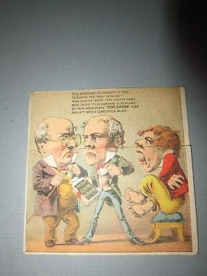 Dime Durham Tobacco Fold Out Mechanical Victorian Trade Card