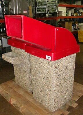 Wausau Tile Commercial Concrete Outdoor Drive Thru Garbage Receptacle