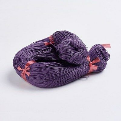 INDIGO PURPLE WAXED COTTON CORD 10m x 1mm Shamballa Macrame Jewellery Making