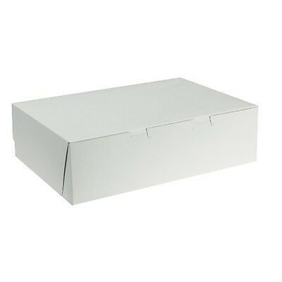 25 count WHITE 12x12x4 Bakery or Cake Box