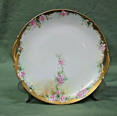 KPM Germany Antique Porcelain Floral Serving Plate Signed China Dinnerware