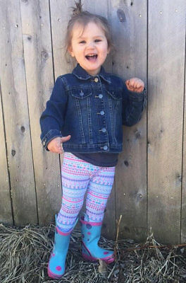 Pink and Blue Aztec Leggings 2T-5T Made in USA