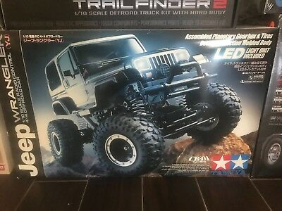 DISCONTINUED TAMIYA CR01 Jeep Wrangler YJ NOS Kit RC Crawler Hard Body