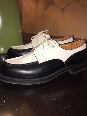 Auth Bnwob $975 Jm Weston 641-35 Black White Derby Oxford Shoes French 5.5 B 7.5