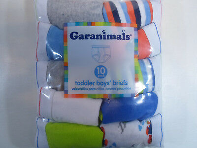 Grananimals 10 PACK Toddler Boys  briefs Size 4T/5T Underwear assorted colors