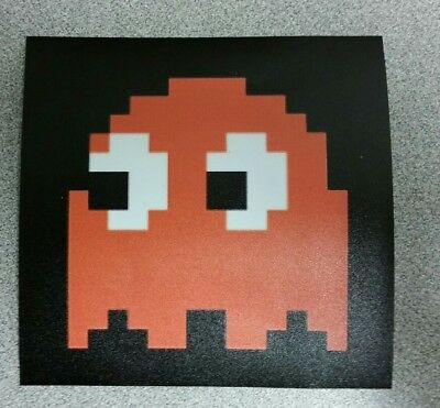 Pac Man Clyde Ghost sticker. 4 x 4. (Buy any 3 of my stickers, GET ONE FREE!)