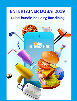 Entertainer Dubai + Cheers +Hotels 2019 + Fine Dining +SPA - 1 week app rental