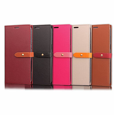 Coque Etui Housse Portefeuille Chic Cuir Neuf Galaxy S7 S8 A5 J3 J5 S9 New Edge