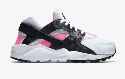 release date 93dcd 7aaca Nike Air Huarache Run GS Youth Size 5Y Shoes White Black Pink 654280-