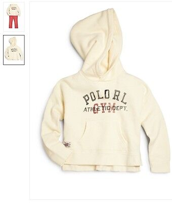 NWT Ralph Lauren  girls fleece  pullover hoodie top jumper,outfit size 3-4 Years