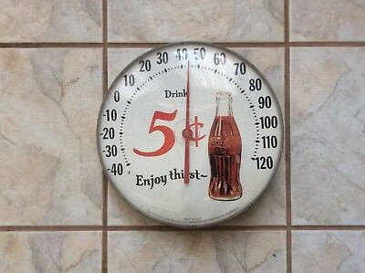 Original Ohio Vintage Coca-Cola Jumbo Dial By Thermometer