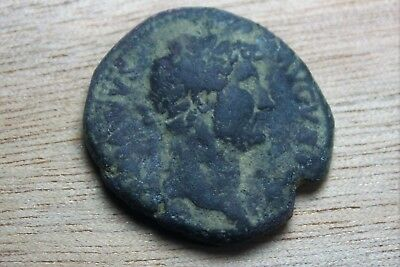 HADRIAN Large 28.1mm Uncleaned Unresearched coin Ancient ones coins Beauty