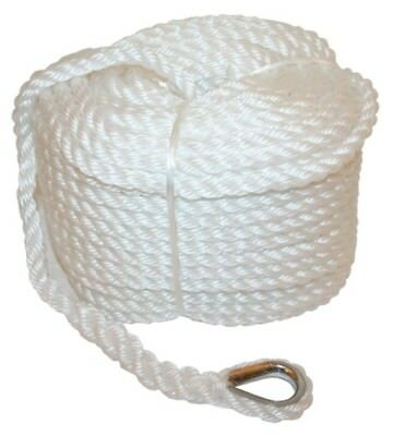 Anchor Marine Rope Boat Mooring Line Stainless Steel Thimble 6mm x 30m