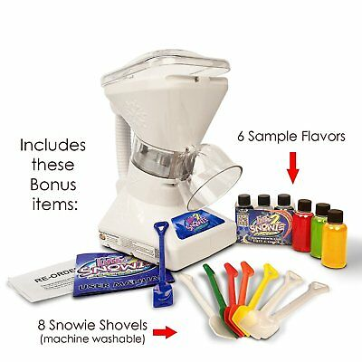 Commercial Ice Shaver Slush Maker Snow Cone Machine w/ Syrup Samples Shaved Ice